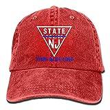KLING Policía de Nueva Jersey, línea Delgada, línea Azul, Sombrero de Mezclilla, Gorra de béisbol con Snapback para Mujeres
