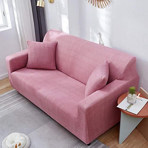 Funda Sofa 1 Plaza Rubor Fundas para Sofa con Diseño Elegante Universal,Cubre Sofa Ajustables,Fundas Sofa Elasticas,Funda de Sofa Chaise Longue,Protector Cubierta para Sofá
