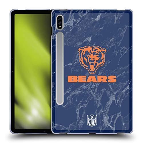 Head Case Designs Licenciado Oficialmente NFL Mármol de Colores Chicago Bears Graphics Carcasa de Gel de Silicona Compatible con Samsung Galaxy Tab S7 5G