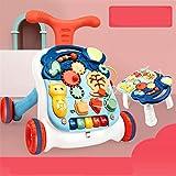 N\A Correpasillos Andandín 2 en 1, Diseño Mejorado, Andador Bebé Interactivo Plegable y Regulador de Velocidad (Color : Blue)
