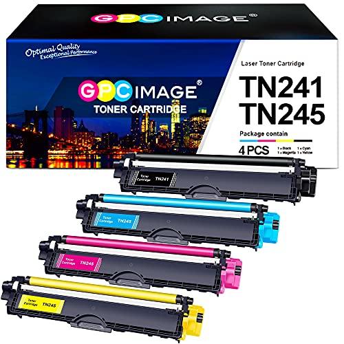 GPC Image TN241 TN245 Cartucce Toner Compatibili per Brother TN-241 TN-245 Brother MFC-9140CDN HL-3140CW DCP-9020CDW MFC-9340CDW HL-3150CDW MFC-9330CDW HL-3170CDW DCP-9022CDW DCP-9015CDW MFC-9332CDW