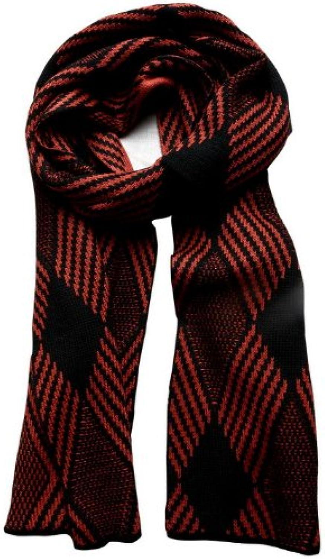 GOMO Long Scarves Multicolor Striped ol Dark Cotton Knitted Shawl