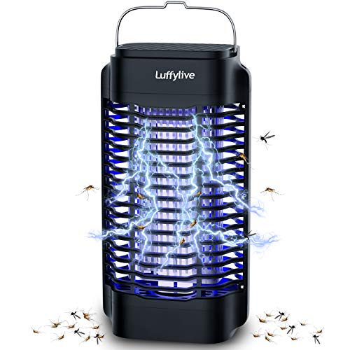 LUFFYLIVE Bug Zapper, Electric Mosquito Zapper Killer for Indoor & Outdoor, 4250V High Powered Waterproof Electric Bug Zapper, Mosquito Killer for Patio, Backyard, Home