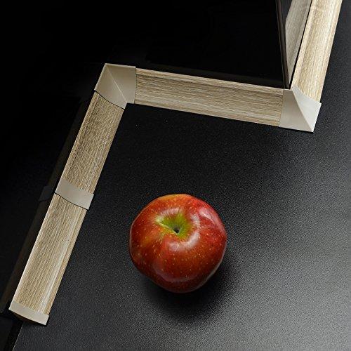 [DQ-PP] Endstück für Winkelleisten Sanoma für Küchen 23mm x 23mm Arbeitsplatten Grundprofil Abschlussleiste Küchenabschlussleiste Tischplattenleisten