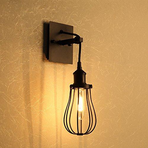 American retro wandlamp creatieve gang industriële molen kop op de muur trappen balkon slaapkamer Amerikaanse ijzeren wandlamp