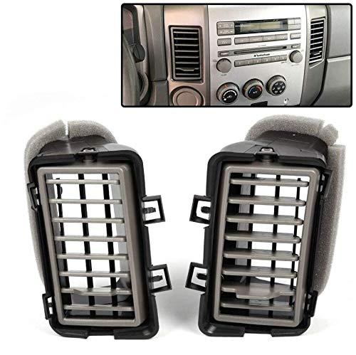 2Pcs Dash Outlet A/C Duct Air Vent Charcoal Compatible for Nissan 2004-2006 Titan/Armada Instrument Panel Air Outlet Deflector