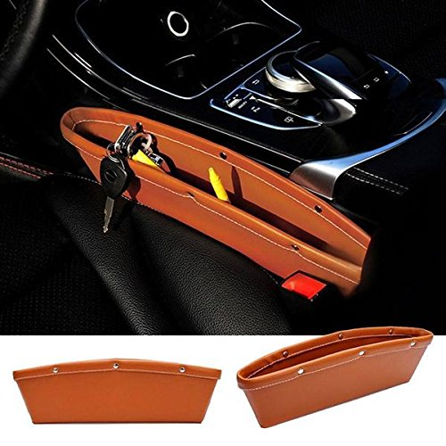 TUZECH Universal Car Side Storage Pure Leather Pouch