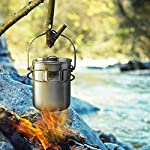 Lixada-Camping-Cookware-Set-Titanium-Stove-Pot-Pan-Frypan-Bowl-Cup-Ultra-Light-Portable-Cooking-Equipment-Mess-Kit-Tools-Stainless-Steel-Cup-700mlwith-Bail-Handle