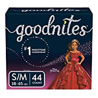GoodNites Bedtime Pants for Girls, Size Small/Medium, 44 Count by GoodNites