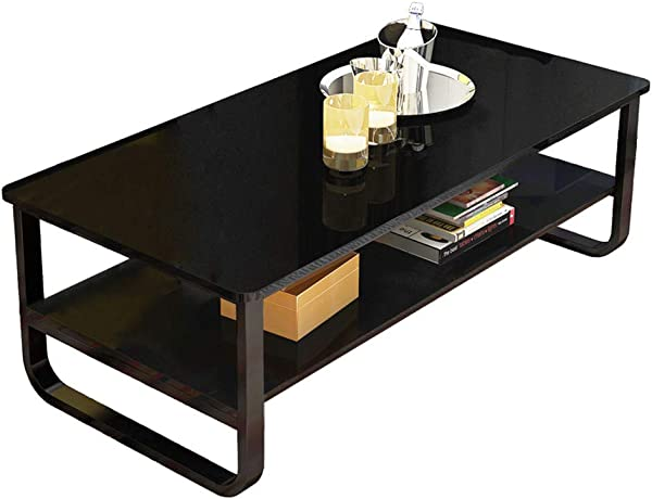 Vintage Coffee Table Modern Solid Wood Rectangular Cocktail Coffee Table Home Living Room Furniture Finish Occasional Coffee Table With Storage Shelf Tea Table Dark