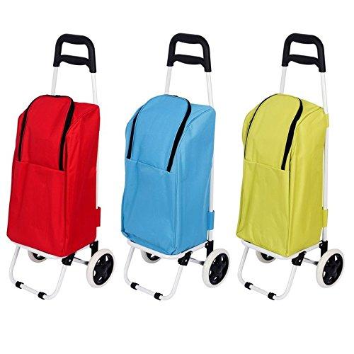 25L Einkaufswagen mit Tiefkühltasche | Einkaufsroller mit Kühltasche | Einkaufstrolley | Trolley mit Kühlbox | Einkaufstasche mit Gefrierfach