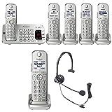 Panasonic KX-TGE475S Link2Cell Bluetooth Phone Answering Machine-5 Handsets
