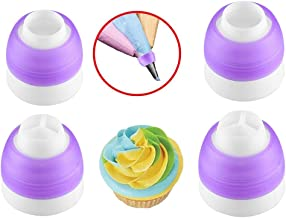 Coupler for Pastry Decorating, 4Pack Russian Piping Tip Couplers Icing Piping Nozle Adapter for Large Size Icing Nozzles B...