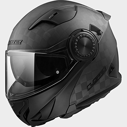 LS2FF313frsco Voltear el casco della moto caschi modulari–Carbone Opaco S(55-56cm)