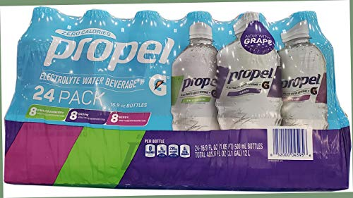 Propel Zero Calorie Fitness Electrolyte Water Beverage Variety Pack Of 24 /16.9 Fl Ounce Net Wt 405.6 Fl Ounce
