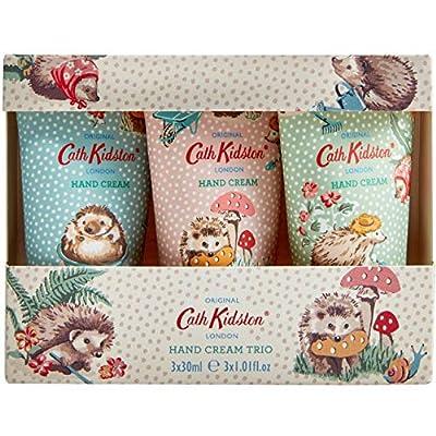 Cath Kidston Hedgehogs Hand Cream Trio Gift Box Travel Size, 3 x 30 ml from Heathcote Ivory