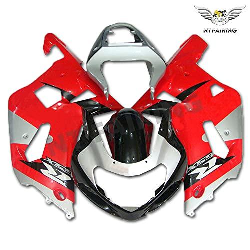 Fairing Red Silver Fit for Suzuki 2001 2002 2003 GSXR 600/750 Injection Mold ABS Plastics Bodywork New Aftermarket Bodyframe Kit Set 01 02 03 GSX-R 600 750 a03
