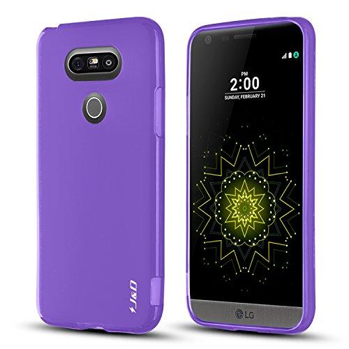 J&D Case Compatible for LG G5 Case, [Drop Protection] [Slim Cushion] Shock Resistant Protective TPU Slim Case for LG G5 Bumper Case - Purple
