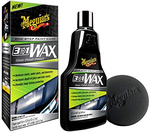 Meguiar\'s G191016EU Meguiars 3-in-1 Wax Autowachs, 473 ml