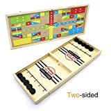 DE Slingshot Table Hockey Party Game, Bouncing Chess Hockey Game, Table Desktop Battle 2 in 1 Ice Hockey Game,...