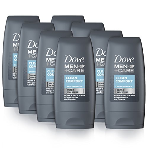 Dove Men+Care Duschgel Clean Comfort Mini, 8er Pack (8 x 55 ml)
