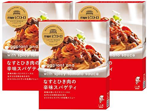ピエトロ 洋麺屋ピエトロ パスタソース なすとひき肉の辛味スパゲティ 3個セット