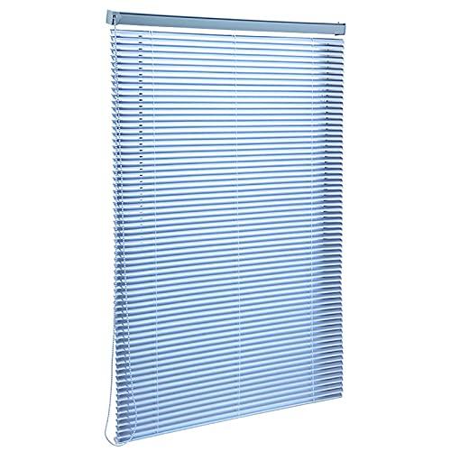 Estor Enrollable Persianas Venecianas Persianas Persianas para ventana de 70-130 cm de ancho, persianas de aleación de aluminio azul Protección de privacidad, luz y deslumbramiento, para cocina / baño