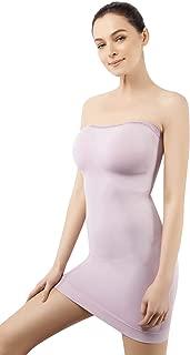 +MD Women's Strapless Shapewear Full Body Slip Shaper Light Tummy Control Seamless Slip Under Dresses