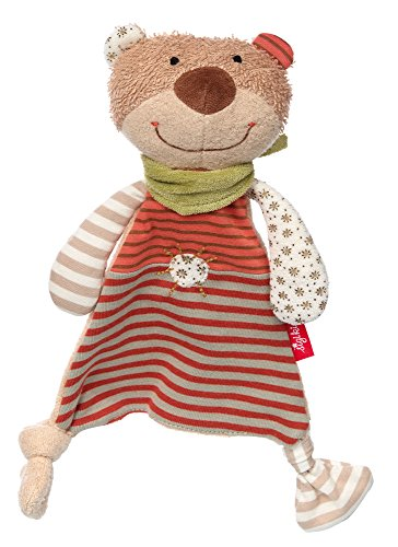 sigikid 48917, fille et garçon, doudou ourson, coton organique, beige/orange, 'Organic Collection'