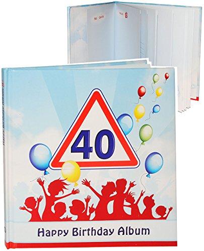 alles-meine.de GmbH Geburtstag -  40 Jahre - Happy Birthday  - Erinnerungsalbum / Fotoalbum - Gebunden zum Einkleben & Eintragen - Album & Erinnerungsbuch - Fotobuch / Photoalb..