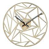 Cicony - Reloj de pared minimalista moderno y silencioso, de madera, redondo, regalo de decoración para el hogar
