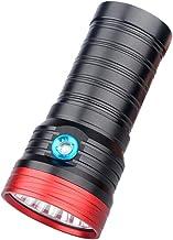 K18 zaklamp zaklamp met 18 stks XM-L T6 LED-zender, USB-lading direct, batterijvermogen dispaly, tot 5400 lumen zwart, han...