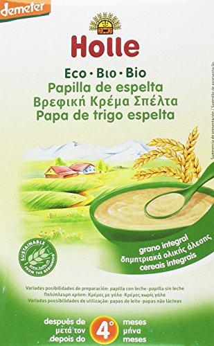 Holle Papilla de Espelta (+4 meses) - Paquete de 6 x 250 gr