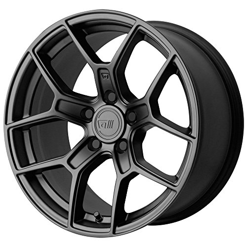 MOTEGI MR133 Satin Black Wheel Chromium (hexavalent compounds) (18 x 9.5 inches /5 x 72 mm, 45 mm Offset)