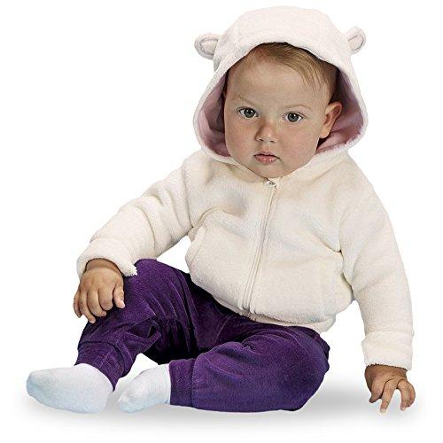 lupilu® Baby Mädchen Teddyjacke, mit Kapuze (Off White/Rosa, Gr. 86/92)