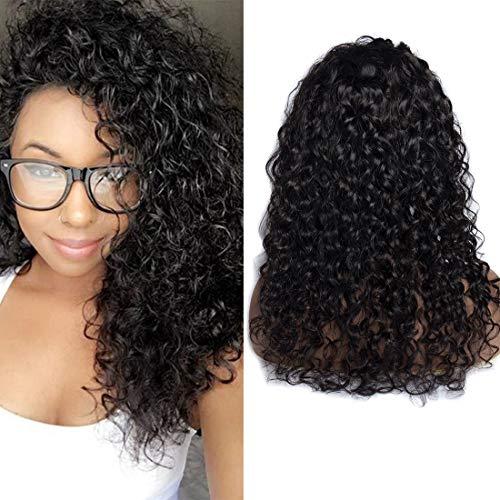 VIPbeauty Water wave Perruque lace frontale 150% Densite Remy cheveux Bresilien naturel couleur naturel pour femme 24 pouces.