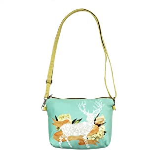 Canvas Crossbody Purse Cute Unicorn Shoulder Bag Satchel for Girls and Teenagers