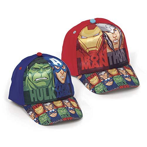 Familie24 Avengers Auswahl Baseball Cap Kappe Schirmmütze Kinderbaseballcap (Hulk-Captain America)
