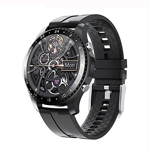 QFSLR Reloj Inteligente para Hombre Ritmo Cardíaco Presión Arterial Sueño Monitoreo Spo2 Rastreador De Ejercicios Llamada Bluetooth Smartwatch Deportivo Impermeable,Negro