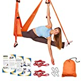 Sotech - Antigravity Yoga Hammock, Yoga Swing Set, Orange/Red, Daisy Chain 1.2 Meters, Tamaño: 250 x 150 cm, Tamaño Plegado: 26 x 24 x 11 cm