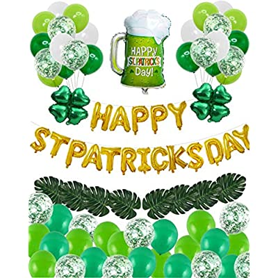55 Pcs St Patricks Day Decoration Set Garland 02032021065719