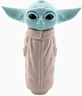 Portable Silicone Baby Yoda Straw Pipe with Clean Cover Detachable 4.7 Inches Portable Silicone Tube Unbreakable Straw Rec...