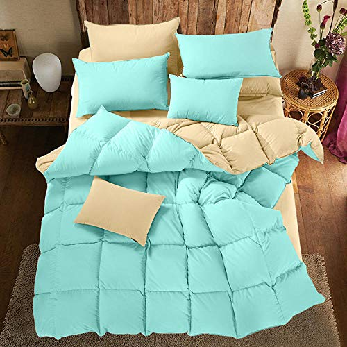 CHOU DAN Christmas Duvets Double,Warm winter quilt single double winter children student quilt core-200X230cm 3500g_Ice blue-beige