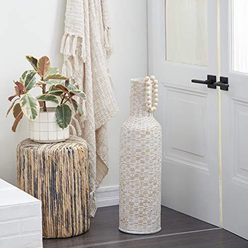 Deco 79 Vase, 9' L x 9' W x 30' H, White