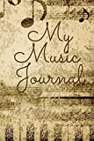 New Sheet Music Journal: This retro sheet music journal is for everyone just starting to make music or have been making music for a long time