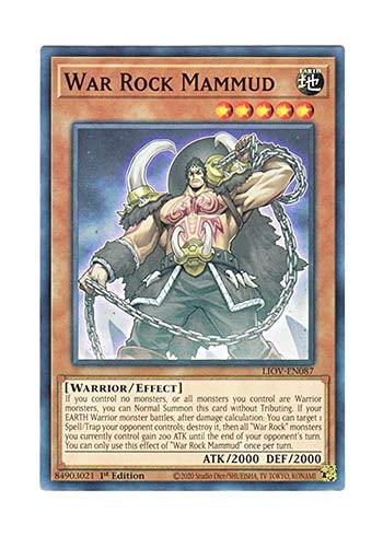 遊戯王 英語版 LIOV-EN087 War Rock Mammud (ノーマル) 1st Edition
