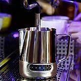 Aomerrt Leche Jarra de Espuma Jarra Café Tazas de Leche Jaladera de Acero Inoxidable Taza de Flores Barista Latte Art Máquina de Capuchino Temperatura