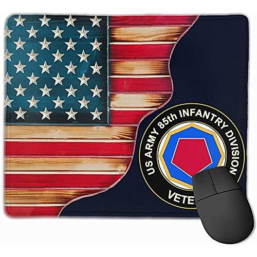 KDU Fashion muismat, Amerikaanse vlag, vintage-stijl, US leger 85E, onderverdeling Vetan, muismat, met anti-slip rubber, 25 x 30 cm