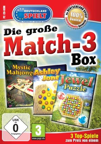 Die große Match-3 Box (Ashley Jones / Mystic Mahjong / Jewel Puzzle)