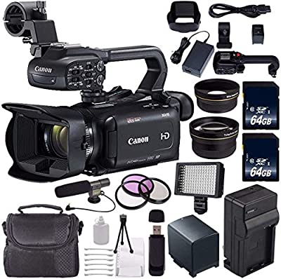 Canon XA11 Compact Full HD ENG PAL Camcorder + 64GB Memory Card + BP-820 Replacement Lithium Ion Battery Bundle by Canon